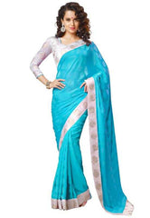 Blue Color Jacquard Crepe Special Occasion Sarees : Divyani Collection  YF-23708