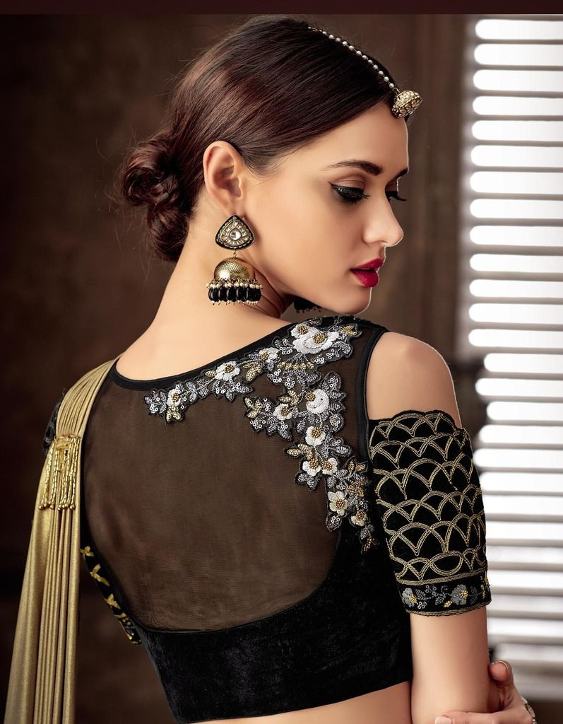 Mehendi Green & Black Color Silk Designer Lehenga Sarees : Sadhik Collection  NYF-1734 - YellowFashion.in