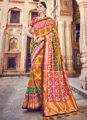 Pink Color Georgette Designer Festive Sarees : Suniti Collection  YF-45278