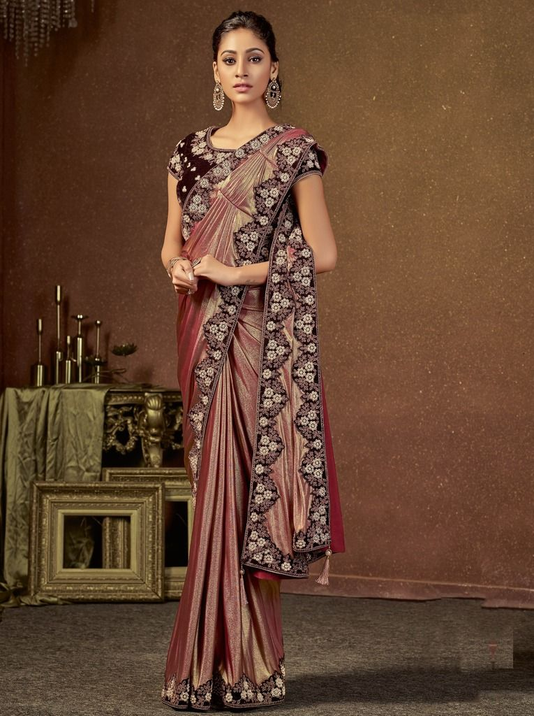 Magenta Color Jacquard Silk Designer Ready To Wear Sarees : Sadhik Collection  NYF-1737 - YellowFashion.in
