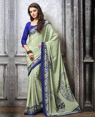 Pastel Green Color Crepe Casual Party Sarees : Sanchita Collection  YF-46098