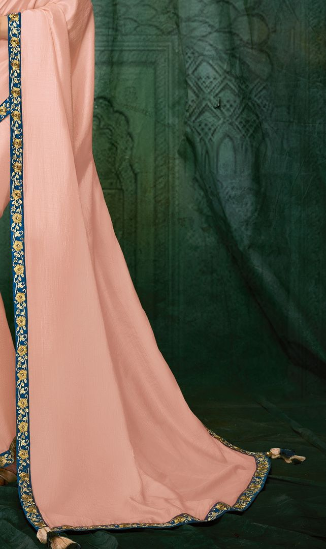 Pink Color Silk Designer Party Wear Sarees NYF-3708 - YellowFashion.in