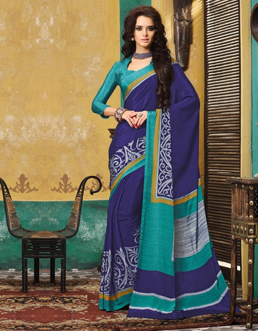 Blue Color Crepe Casual Wear Sarees : Avrani Collection  YF-47018