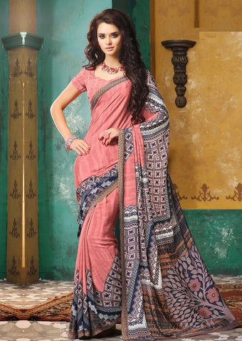 Pink Color Crepe Casual Wear Sarees : Avrani Collection  YF-47027
