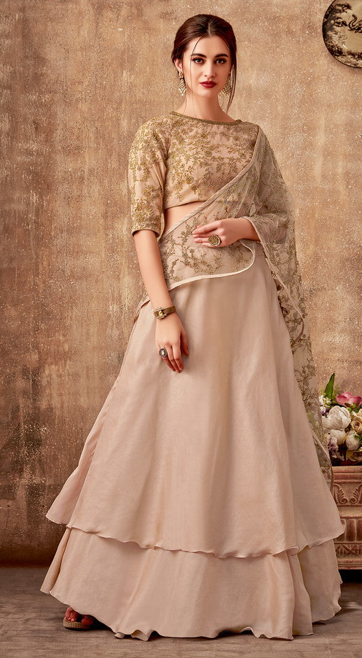 Powder Pink Color Fancy Designer Lehenga -Khwaish Collection YF#11849