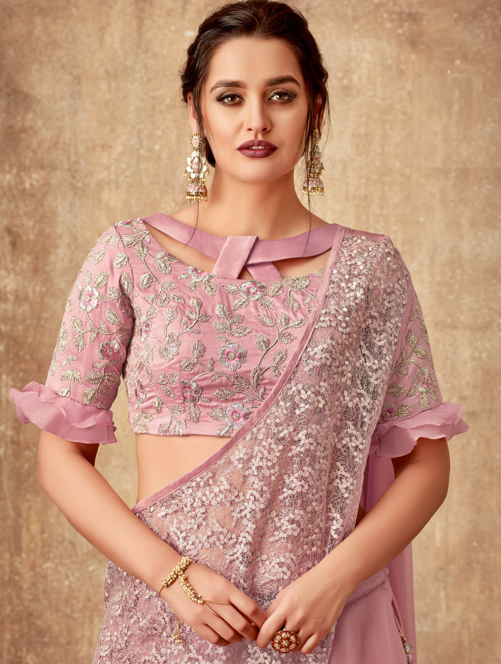 Blush Pink Color Fancy Designer Lehenga -Khwaish Collection YF#11850