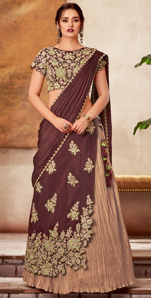 Light and Dark Mauve Color Fancy Designer Lehenga -Khwaish Collection YF#11855