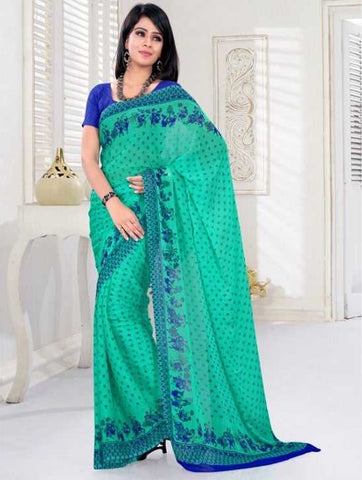 Green Color Chiffon Daily Wear Sarees : Adina Collection  YF-29700