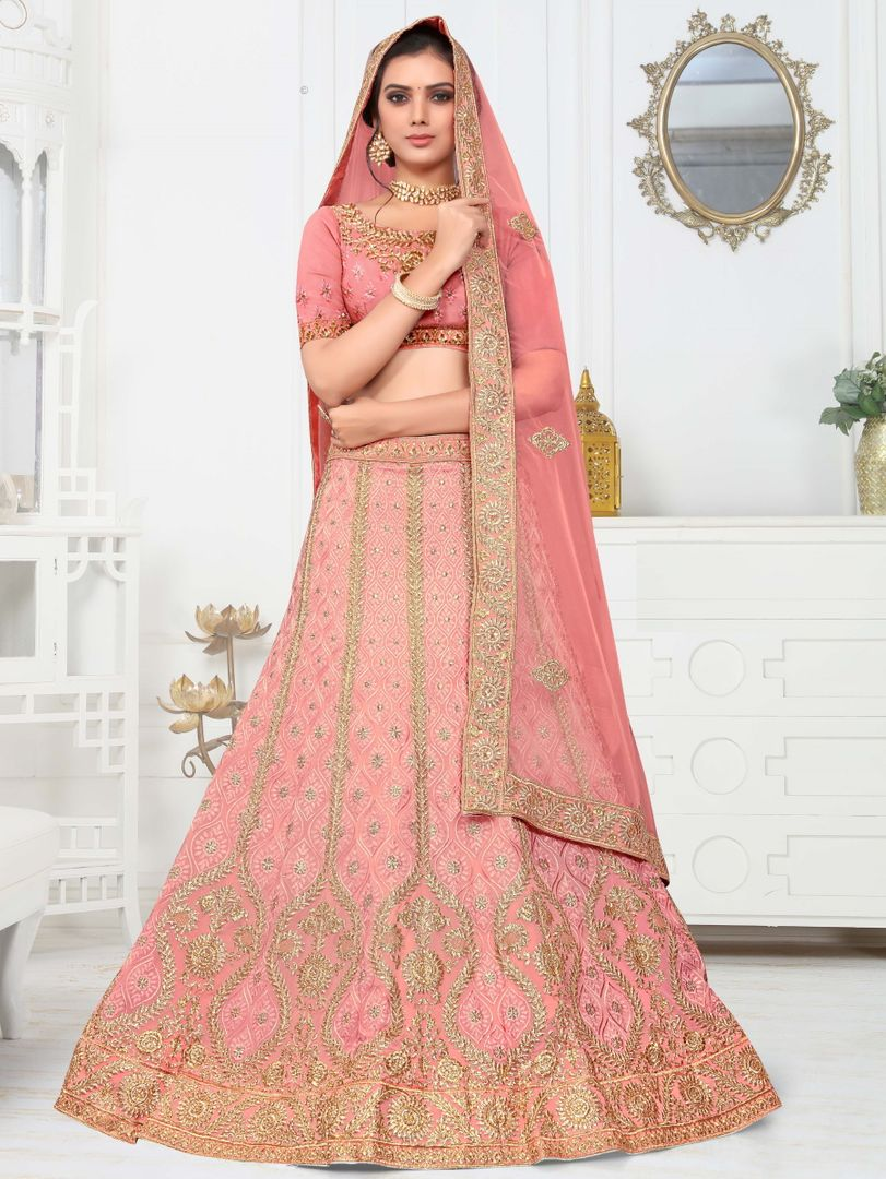 Pink Color Silk Splendid Designer Lehenga NYF-4330 - YellowFashion.in