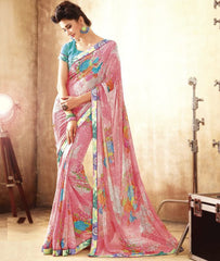 Pink Color Georgette Party Wear Sarees : Lanima Collection  YF-45475