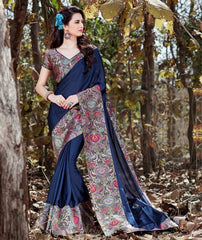 Blue Color Crepe Designer Party Wear Sarees : Nayna Collection  YF-51909