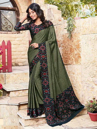 Green and Black Color Metallic Two Tone Chiffon Kitty Party Saree-  Ishin Collection  YF#10703