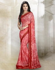 Pink Color Georgette Kitty Party Sarees : Rishima Collection  YF-48939