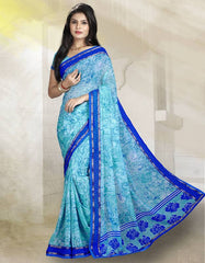 Ocean Blue Color Georgette Kitty Party Sarees : Rishima Collection  YF-48940
