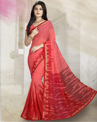 Pink & Red Color Georgette Kitty Party Sarees : Rishima Collection  YF-48945