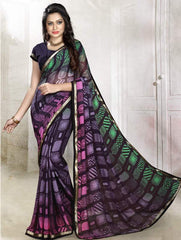 Multi Color Georgette Kitty Party Sarees : Rishima Collection  YF-48950