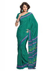 Green  Color Crepe Casual Sarees : Bandhan Collection YF-18889