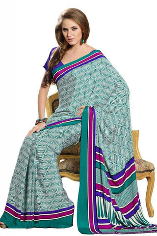 Green  Color Crepe Casual Sarees : Bandhan Collection YF-18901