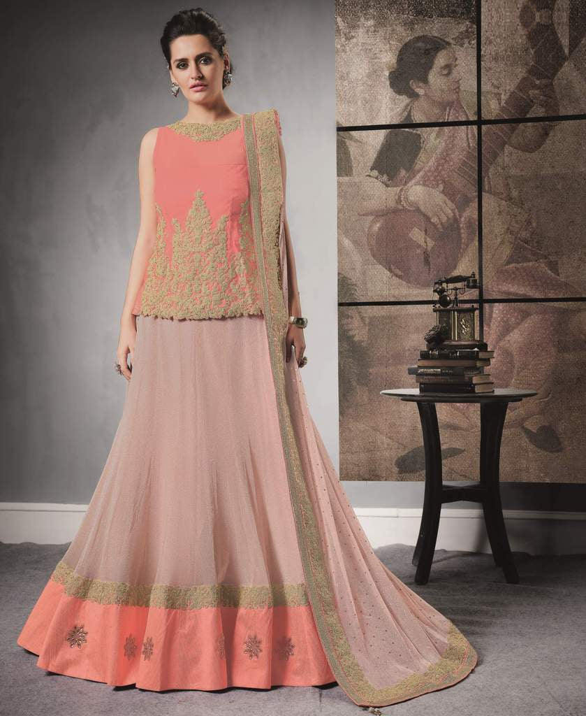 Pink Color Lycra Lehenga For Wedding Functions : Nasima Collection  NYF-1848 - YellowFashion.in