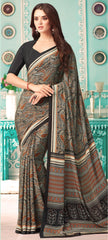 Black Color Crepe Casual Party Sarees : Nrishit Collection YF-63034