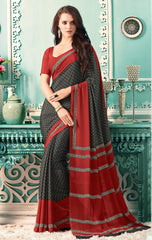 Black Color Crepe Casual Party Sarees : Nrishit Collection YF-63035