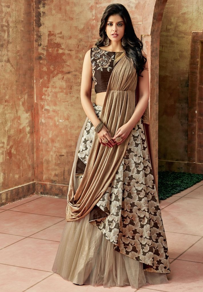 Cream Color Raw Silk Lehenga For Wedding Functions : Nasima Collection  NYF-1799 - YellowFashion.in
