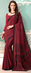 Magenta Color Crepe Casual Party Sarees : Nrishit Collection YF-63044