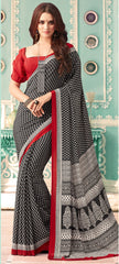 Black Color Crepe Casual Party Sarees : Nrishit Collection YF-63046