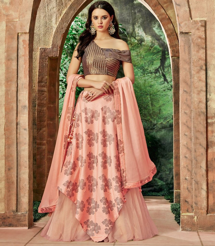 Pink Color Raw Silk Lehenga For Wedding Functions : Nasima Collection  NYF-1802 - YellowFashion.in