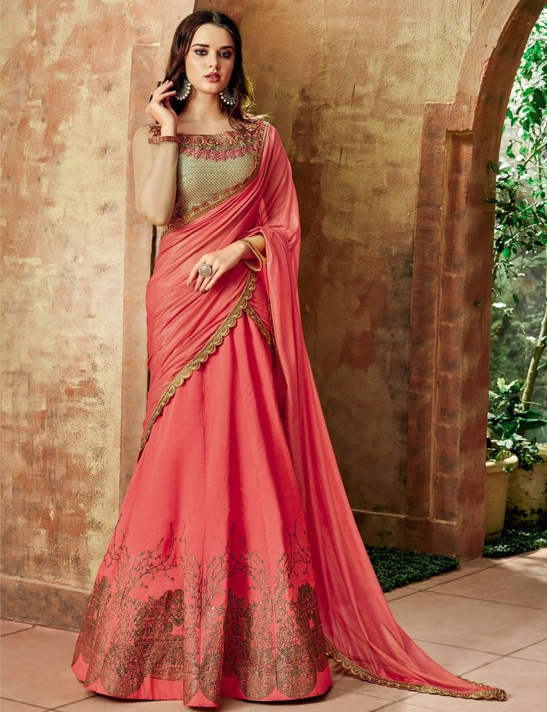 Pink Color Raw Silk Lehenga For Wedding Functions : Nasima Collection  NYF-1804 - YellowFashion.in