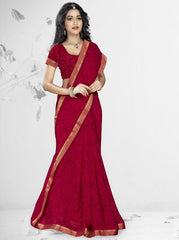 Red Color Georgette Kitty Party Sarees : Nupurli Collection  YF-50338
