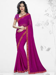 Pink Color Georgette Kitty Party Sarees : Nupurli Collection  YF-50341