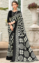 Black Color Georgette Party Wear Sarees : Pritkrit Collection YF-69279