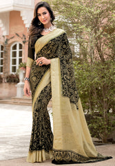Black Color Georgette Party Wear Sarees : Pritkrit Collection YF-69282