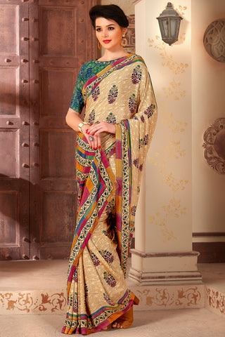 Grey Color Blended Cotton Festival & Function Wear Sarees : Rupjyoti Collection YF-69889