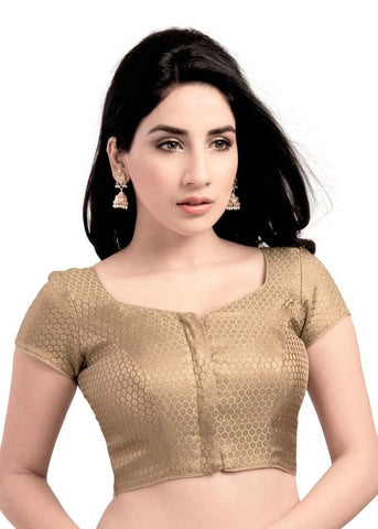 gold Color Brocade Readymade Function Wear Blouses ( Sizes - 32, 34, 36, 38, 40, 42 ): Samita Collection  YF-38526