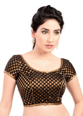 black Color Brocade Readymade Function Wear Blouses ( Sizes - 32, 34, 36, 38, 40, 42 ): Samita Collection  YF-38538