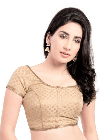 gold Color Brocade Readymade Function Wear Blouses ( Sizes - 32, 34, 36, 38, 40, 42 ): Samita Collection  YF-38544