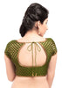 mehendi-green Color Brocade Readymade Function Wear Blouses ( Sizes - 32, 34, 36, 38, 40, 42 ): Samita Collection  YF-38562