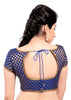 royal-blue Color Brocade Readymade Function Wear Blouses ( Sizes - 32, 34, 36, 38, 40, 42 ): Samita Collection  YF-38580