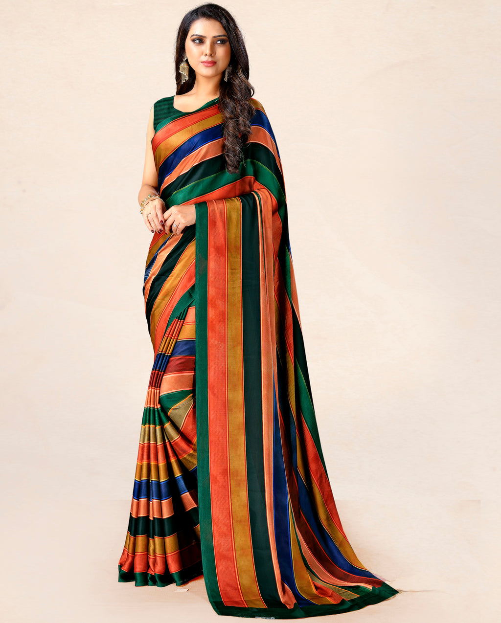 Multi Color Satin Party Wear Sarees NYF-8763