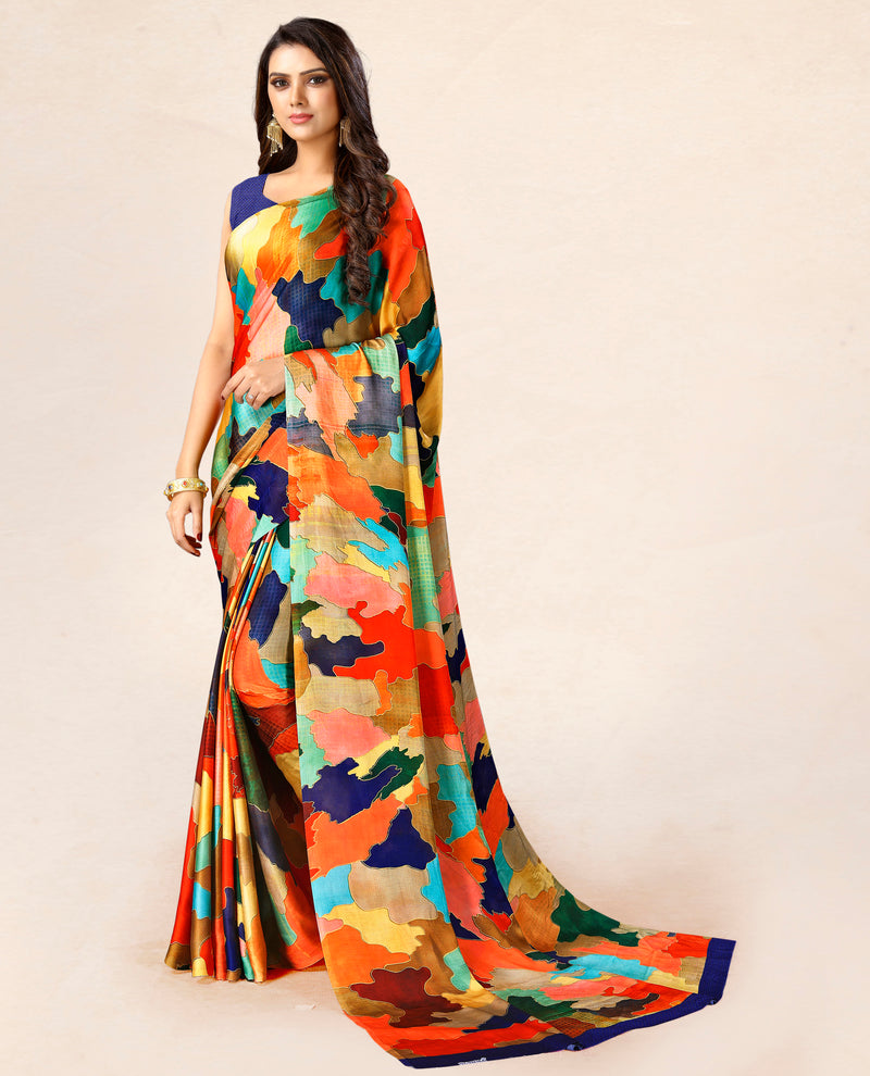 Multi Color Satin Party Wear Sarees NYF-8764