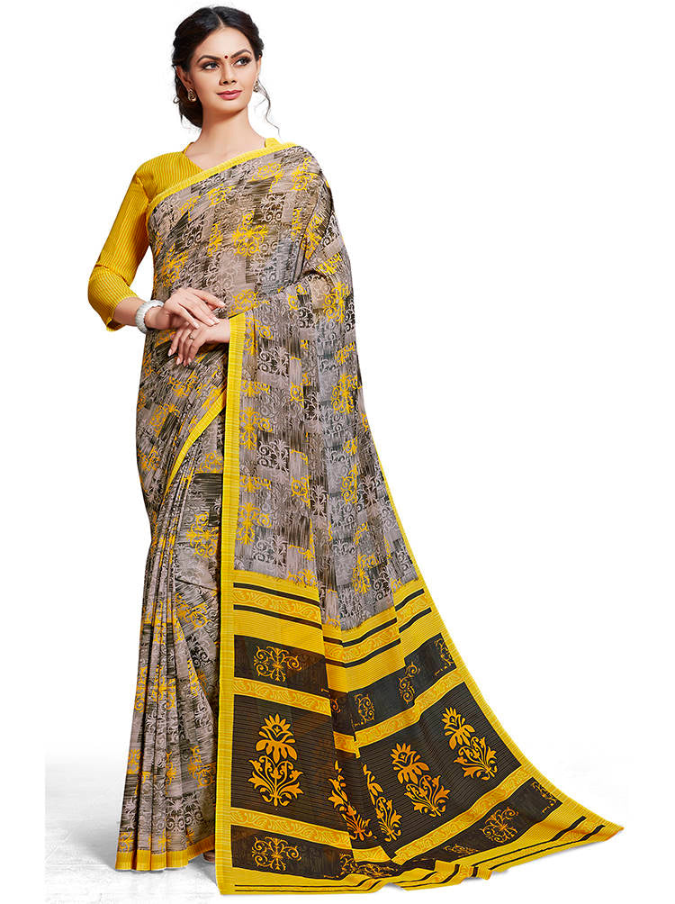Multi Color Chiffon Printed Home Wear Sarees NYF-7678
