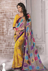 Yellow  Colour  Georgette  Material Sarees : Sareena Collection -  YF-16928