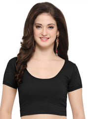Black Color Cotton Lycra Stretchable Readymade Daily Wear Blouses : Akuti Collection YF-60252