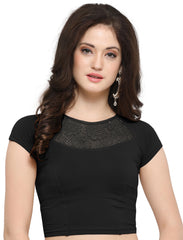 Black Color Cotton Lycra Stretchable Readymade Daily Wear Blouses : Akuti Collection YF-60260