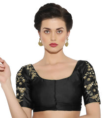 Black Color Bengal silk Readymade Party Wear Blouses (34,36,38,40): Sujil Collection  YF-53491