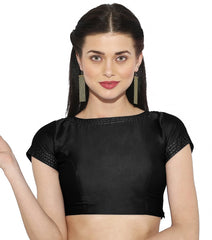 Black Color Bengal silk Readymade Party Wear Blouses (34,36,38,40): Sujil Collection  YF-53499