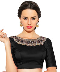 Black Color Bengal silk Readymade Party Wear Blouses (34,36,38,40): Sujil Collection  YF-53503