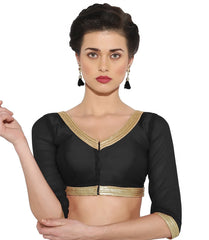 Black Color Bengal silk Readymade Party Wear Blouses (34,36,38,40): Sujil Collection  YF-53507